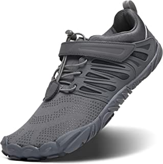 EVGLOW Men's Wide Minimalist Trail Running Shoes | Barefoot Cross Training Shoe for Gym Wokout