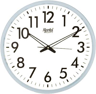 Ajanta Quartz Plastic Wall Clock (318 x 318 x 20 mm, White)