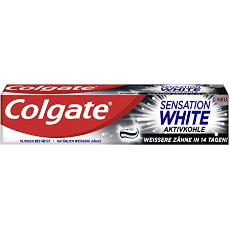 Amazon De Colgate Sensation White Aktivkohle Zahnpasta 75 Ml