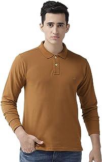 CHKOKKO Men's Polo Cotton Regular Fit Full Sleeves T-Shirt