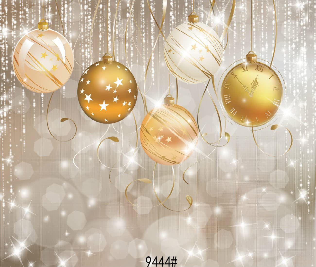 4X3FT-Christmas Lighting Family Party Decoration Photography Backdrops Children Ball Photo Studio Background