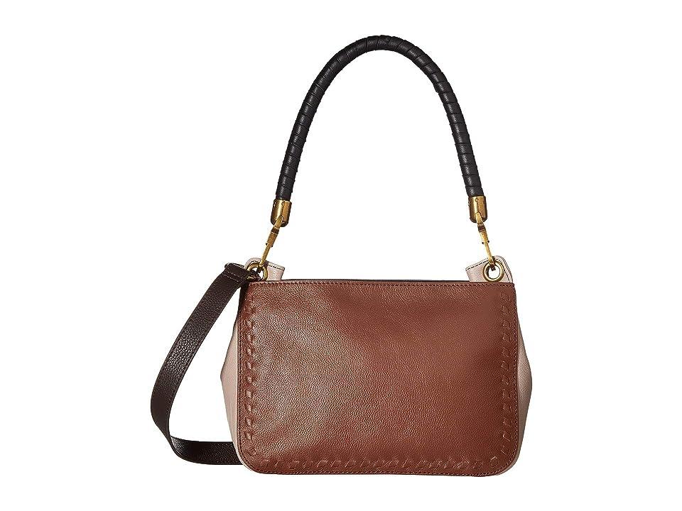 The Sak Estrada Three-Way Top Zip by the Sak Collective (Teak Block) Top-Zip Handbags, Tan