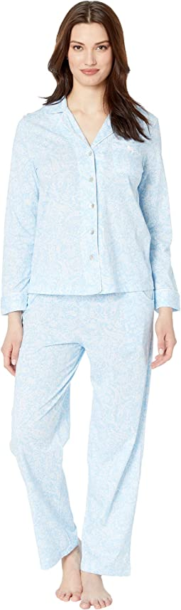 Notch Collar Pajama Set