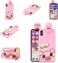 RONSHIN For OPPO F9/F9 PRO/A7 X 3D Cute Coloured Painted Animal TPU Anti-scratch Non-slip Protective Cover Back Case Rose red OPPO F9/F9 PRO/A7 X Electronic Accessories