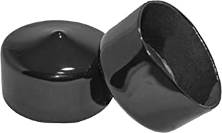 Prescott Plastics 1 3/4 Inch Round Black Vinyl End Cap, Flexible Pipe Post Rubber Cover (4)