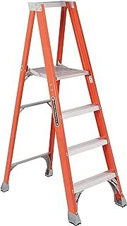 Louisville Ladder 4 Foot Fiberglass Ladder with Platform, 300-Pound Duty Rating, FP1504