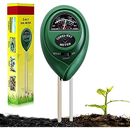 Suplong Soil PH Testing Kit 3 in 1 Plant Soil Tester Kit With PH, Light & Moisture acidity Tester,Great For Bonsai Tree, Garden Care, Farm, Lawn, Indoor & Outdoor (No Battery needed)