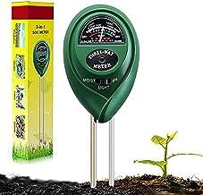 Suplong Soil PH Testing Kit 3 in 1 Plant Soil Tester Kit With PH, Light & Moisture acidity Tester,Great For Bonsai Tree, G...