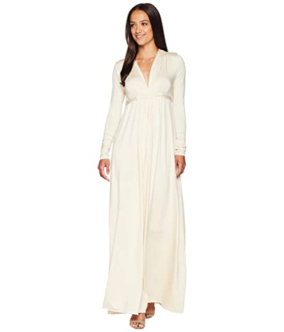 Rachel Pally Long Sleeve Full Length Caftan (Cream) Women