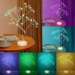 Árbol Bonsái Lámpara de Mesa, decoración de habitación luz nocturna – Lámpara de árbol para decoración del hogar estética, con temporizador, para dormitorio, sala de estar, fiesta