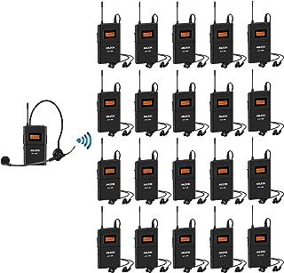 Anleon MTG-100 Professional Wireless Tour Guide System 902-927mhz for Tour Guides, Teachers, Coaches,Presentations,Simultaneous Interpretation (1 transmitter & 20 receivers)