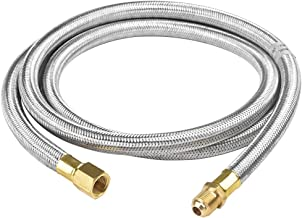 SHINESTAR 6FT Stainless Steel Braided Propane Appliance Hose Assembly with 3/8inch Female Flare Fitting x 3/8inch Male Flare Fitting
