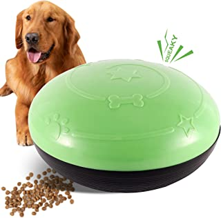 FiGoal Dog Sliding Toy with Sound and Snack Pad (Green) Food Dispensing Sliding Gliding Squeaky Dog Toys Puppy Toy Dogs Su...