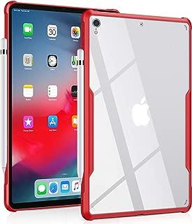HomeViro iPad Pro 11ケースウルトラスリムクリアケースシリーズ - アップルペンシル ワイヤレス充電ドロップ保護 耐衝撃性フレキシブルTPU、軽量をサポート (レッド)