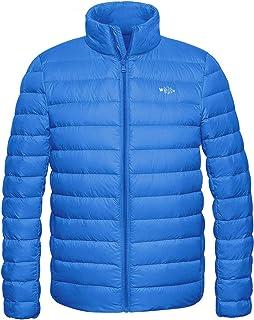 3f3cc3061615 Wantdo Men s Packable Stand Collar Lightweight Alternative Down Puffer  Jacket