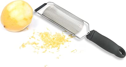 Tolizz Unique Lemon Zester & Cheese Grater - Great For Parmesan Cheese, Chocolate, Ginger, Garlic, Nutmeg + Protective Cover