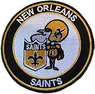New Orleans Saints Vintage Iron on Embroidered Patch 3 inсh