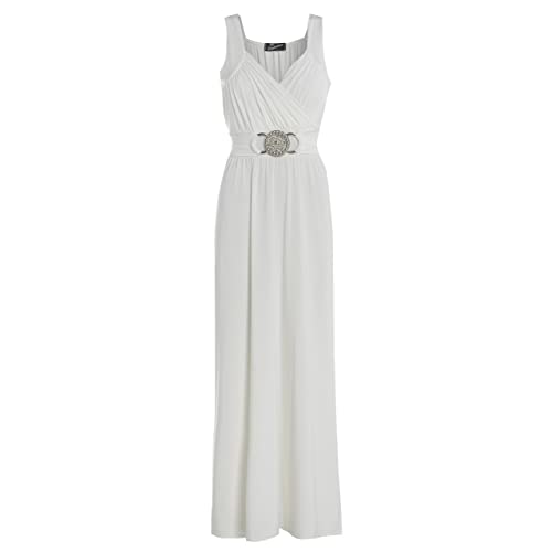 LADIES NEW LONG COCKTAIL BRIDEMAID FORMAL EVENING BUCKLE MAXI PARTY DRESS 16-26