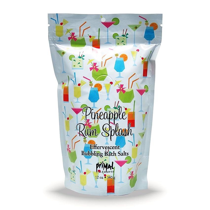 エージェントゴム農民プライモールエレメンツ バブリング バスソルト/パイナップル ラム スプラッシュ 340g エプソムソルト含有 アロマの香りがひろがる泡立つ入浴剤