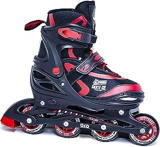 California Skate Co Adjustable Inline Skates - Zuma Kids Beginner Roller Skates for Girls, Boys, Men, Women