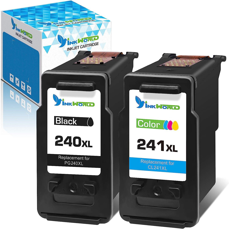 InkWorld Remanufactured 240XL 241XL Replacement 迅速な対応で商品をお届け致します fo 卸直営 Cartridge Ink