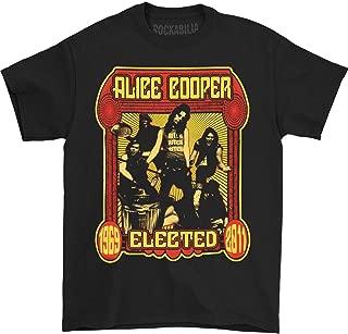 Alice Cooper Men's Elected Band T-Shirt Black