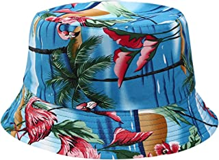 iLXHD Men Women Fishing Hat Printing Double-Sided Wearing Visor Travel Folding Basin Fishing Hat