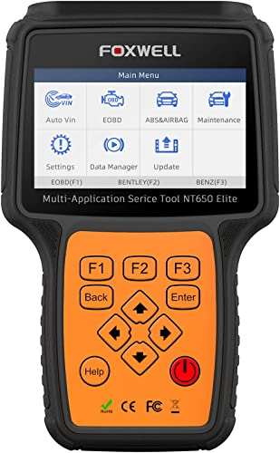 FOXWELL NT650 Elite Car OBD2 Scanner Automotive OBD II ABS Air Bag Code Reader with SAS EPB DPF EPS TPMS TPS Battery Registeration Oil Light Reset