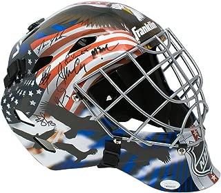 1980 Miracle On Ice Team Signed Full Size USA Goalie Mask 14 Signatures JSA