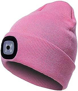 Cappello Uomo Illuminato Berretto 4 LED, 2 Pezzi di Luce Uso Alternativo Uomo Donna regalo di Natale Compleanno Cappello c...