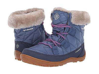 Columbia Kids Minx Shorty Omni-Heat Waterproof (Little Kid/Big Kid) (Bluebell/Pink Ice) Girls Shoes