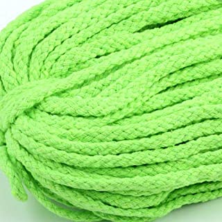 90 Meters 5 mm Twisted Cotton Rope Lime Braid Cord Craft Yarn Soft Rope Cotton Fiber String DIY Macrame Crafts,Decoration