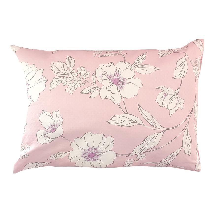 特権的符号消化器メリーナイト 日本製 綿100% ドビー織 枕カバー 「ボタニカ」 43×63cm ピンク DB261574-16