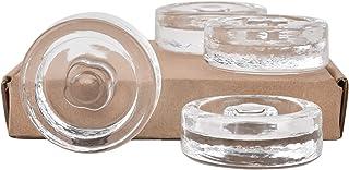 Lot de 4 poids de fermentation en verre avec poignées pour garder les légumes immergés pendant la fermentation et le décapage