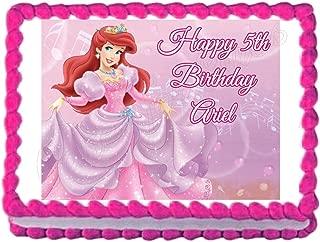 Little Mermaid Princess Ariel Edible Cake Image Cake Topper