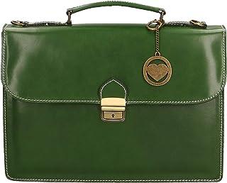 Chicca Borse Bag Borsa a Mano Portadocumenti in Pelle Made in Italy 38x27x7 cm
