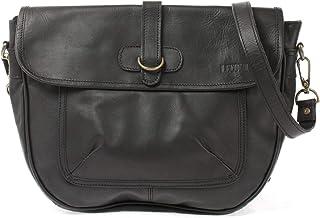 LECONI Umhängetasche Freizeittasche mit Trageriemen Damen Schultertasche in Echtleder Vintage-Look Ledertasche Damentasche Leder 37x26x10cm LE3053