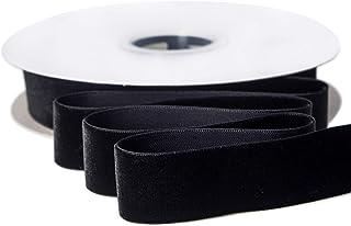 Vintage black velvet ribbon with original packaging