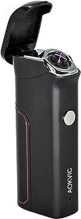 Aokvic Lighter USB Rechargeable Windproof Flameless Arc Lighter 800 mAh Long Battery Life (Black)