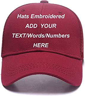 Sports Outdoors Snapback Visors Custom Text Embroidered Dad Hats Personalized Hip Hop Curved Bill Baseball Caps