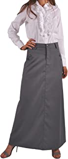 Style J Just Chic Gray Long Skirt