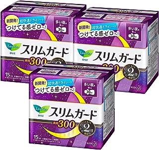 【まとめ買い】 ロリエ スリムガード しっかり夜用 羽つき 30cm 15個入×3個パック