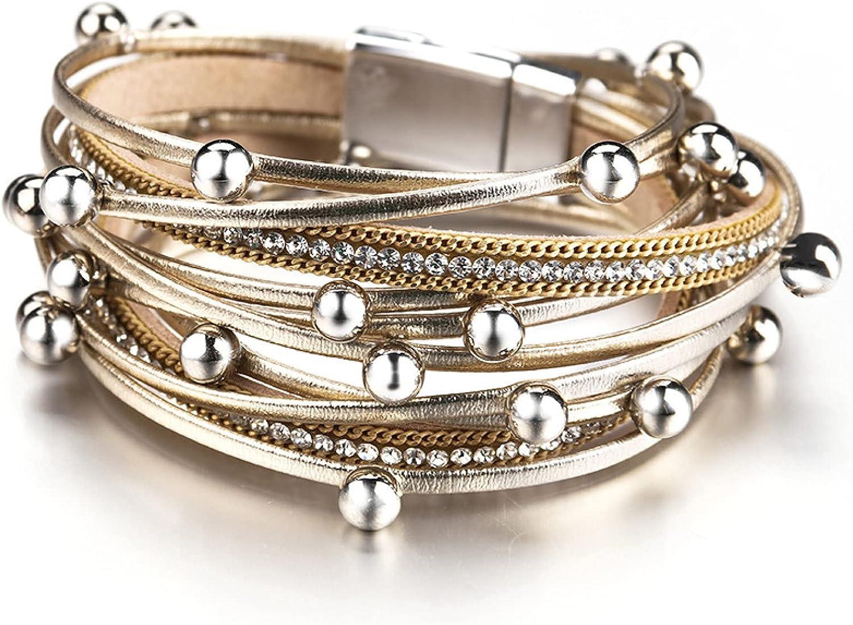 GTHT Men 70% OFF Outlet Bracelets gift Multilayer Trendy Women for Leather