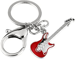 Z617 New Hot Cute Red Rock Guitar Charm Key Ring Keychain with Clasp
