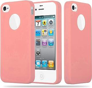 e51eaff36c7 Cadorabo Funda para Apple iPhone 4 / iPhone 4S en Candy Rosa – Cubierta  Proteccíon de