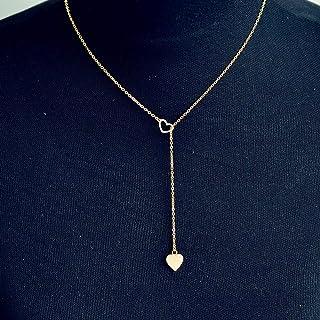 Joyas Fenebort, Collar de Cadena Pendiente del corazón del