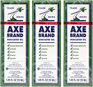 AXE BRAND MEDICATED OIL FOR PAIN RELIEF 3 bottles