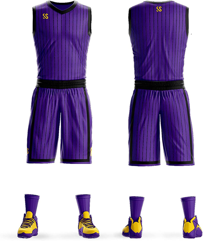 Custom Basketball Jersey and Short Men Jersey Shirts Basketball Uniform Customize Jersey for Men//Youth