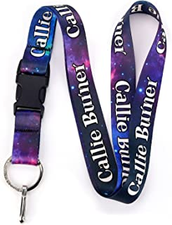 Buttonsmith Nebula Custom Lanyard - Customize with Your Text - Buckle and Flat Ring - Made in The USA