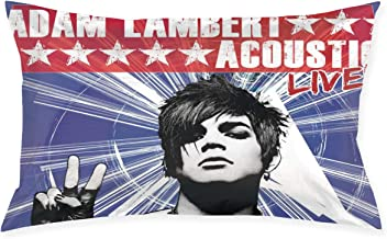 Kaihngl Adam Lambert Acoustic Live Exquisite Cartoon Pillowcase,Decorative Long Pillowcase Covers with Zipper Standard (20x30 Inches)
